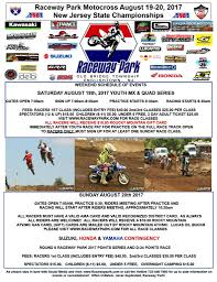 ama atv motocross schedule raceway park archives nj motocross