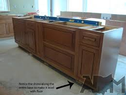 how to install kitchen island base cabinets installing kitchen island cabinets