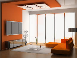 best color for a room with modern orange wall and ceiling color