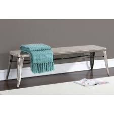 tabouret gunmetal 60 inch indoor bench free shipping today