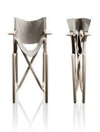 stanley folding armchair by philippe starck fabric black by magis