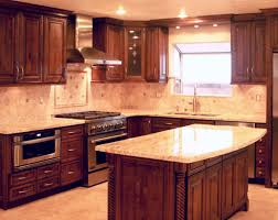 kitchen ideas cherry cabinets kitchen ash wood cherry glass panel door oak kitchen