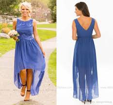 2016 simple modest country style bridesmaid dresses high low v