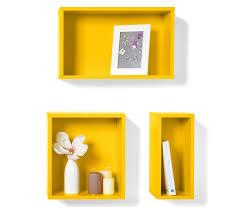 wandregale farbig 3 wandregale gelb online bestellen bei tchibo 311136