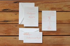 Wedding Invitations Brisbane Little Peach Love Birds Letterpress