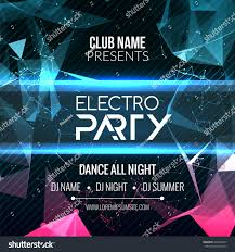 modern electro edm party template dance stock vector 426669667