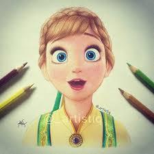drawn frozen artistiq pencil color drawn frozen artistiq