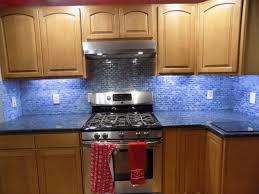 blue glass kitchen backsplash kitchen design ideas blue glass tile backsplash idea stunning