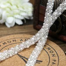 pearl ribbon popular lace and pearl ribbon 1cm buy cheap lace and pearl ribbon