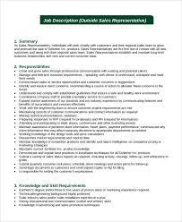 sample resume job description sales representative medical staff