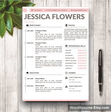 Creative Resume Templates Word Resume Template Cover Letter And Portfolio For Ms Word