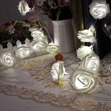 String Of Flower Lights by Amazon Com Rose Flower Fairy String Lights 20led Wedding Garden