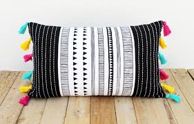aztec print pillow cover cotton pillow case tribal standard