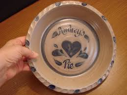 personalized pie plate ceramic personalized pie plate rowe pottery pie pans