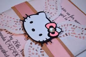 birthday and baby shower invitations hello kitty doily invitations