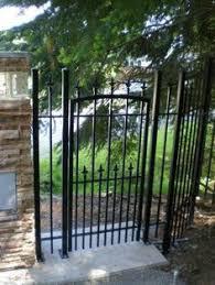 allure aluminum worthington 4 ft x 6 ft black aluminum 3 rail aluminum w brick columns fence ideas pinterest columns