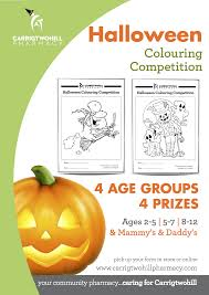 carrigtwohill pharmacy halloween colouring competition