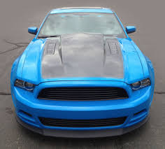 Blue And Black Mustang 2013 14 Hood Options The Mustang Source Ford Mustang Forums
