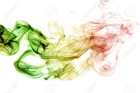 Green White And Yellow Flag Abstract Background Smoke Curves And Wave Reggae Colors Green