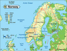Norway On World Map by Norway By Nancy Martinez