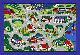 Large Kids Rug Street Map Grey Classroom Car Play Large Area Rug 4 Kids