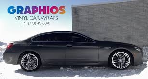 chrome wrapped cars chicago black matte car wrap vehicle graphics graphios