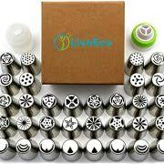 love2bake cupcake decorating tip set classic stainless steel