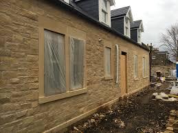 new build sandstone stone works edinburgh architectural
