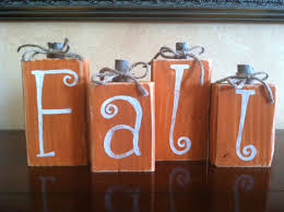 Home Decorations For Halloween by Wood Fall Pumpkin Block Set Seasonal Home Decor For Fall
