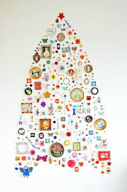 Christmas Tree Without Ornaments by 16 Clever And Creative Christmas Wall Trees Brit Co