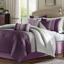 Purple Sofa Pillows by Bedroom Purple Pintuck Comforter With Purple Throw Pillows And
