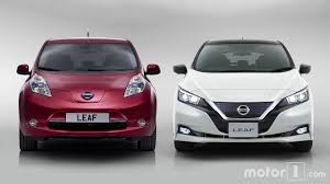 nissan leaf side by side new and old nissan leaf compared