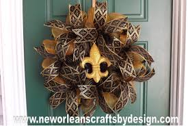 new orleans crafts by design saints inspired black and gold deco