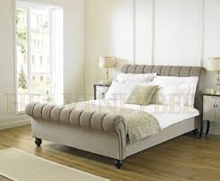 Upholstered Bed Frame Full Bedroom Wooden Sleigh Bed Full Size Sleigh Bed Queen Bed
