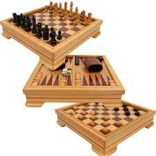 amazon com deluxe 7 in 1 game set chess checkers backgammon