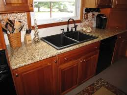 GranitecompositesinksKitchenContemporarywithformbamboo - Kitchen sinks granite composite