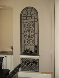 Wrought Iron Bakers Rack With Glass Shelves Organizer Wine Rack Console Table Wall Wine Glass Rack