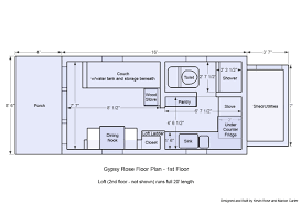 tiny house plans wheels gypsy rose floor plan home building