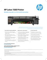 fact sheet hp latex 1500 printer