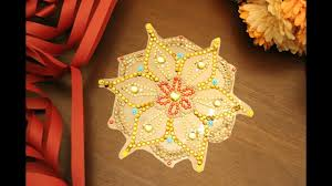 diy diwali decor easy 5 minute rangoli youtube