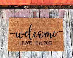 Personalized Business Rugs Custom Doormat Etsy