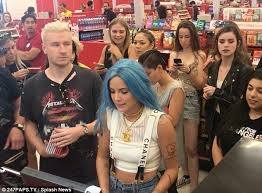 target black friday petition halsey buys albums for her fans in impromptu target outing daily
