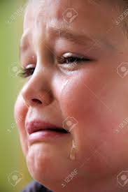sad with teardrops in stock photo picture
