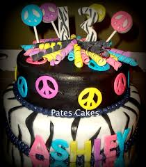 zebra and peace sign cake my cakes pinterest peace sign