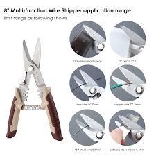 mvpower multi tool wire stripper crimper cutter with spring