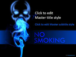No Smoking Ppt Template Cool Ppt Designs
