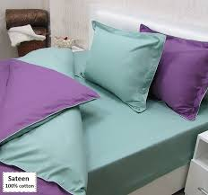 Purple And Green Bedding Sets with Purple And Green Duvet Cover Set Online 4 Pcs Beddingeu