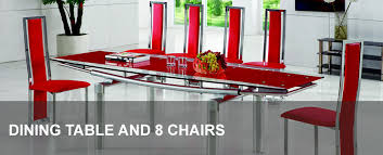 cheap red dining table and chairs glass dining table and 8 chairs modenza furniture