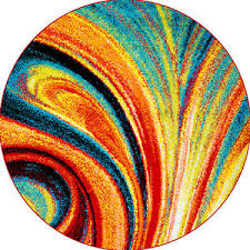 Round Rugs Ebay Multi Color Swirls Round Area Rug 5x5 Abstract Carpet Actual 5