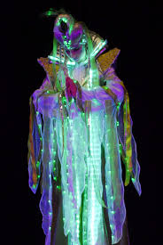 halloween laser light show luminous stilt costume www streets united com stilts pinterest